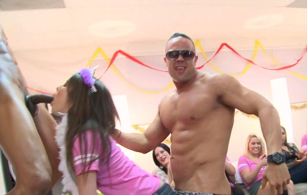 Wild birthday party dancing bear strip club