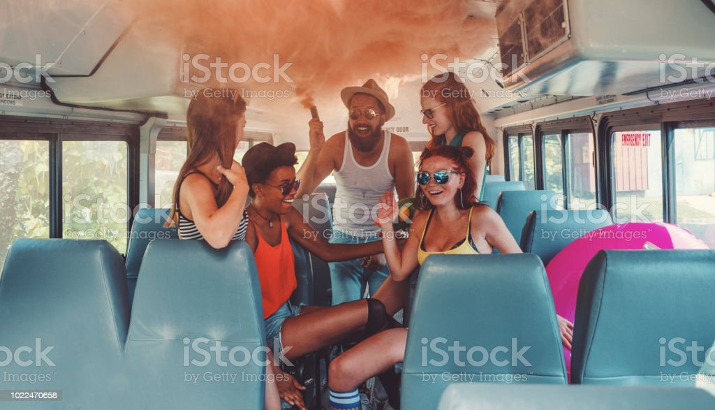 Adult party bus