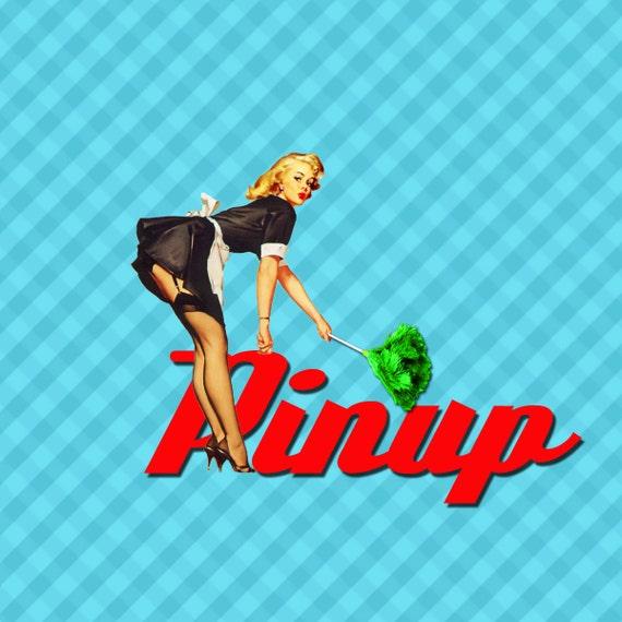 Up art pin girl clip