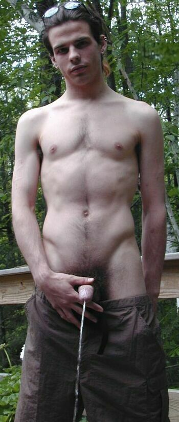 Nude boys outdoors naked