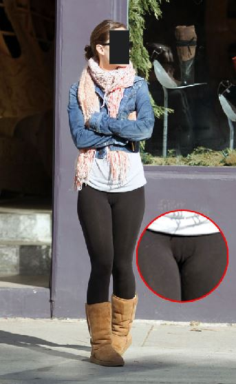 See through leggings indecent images