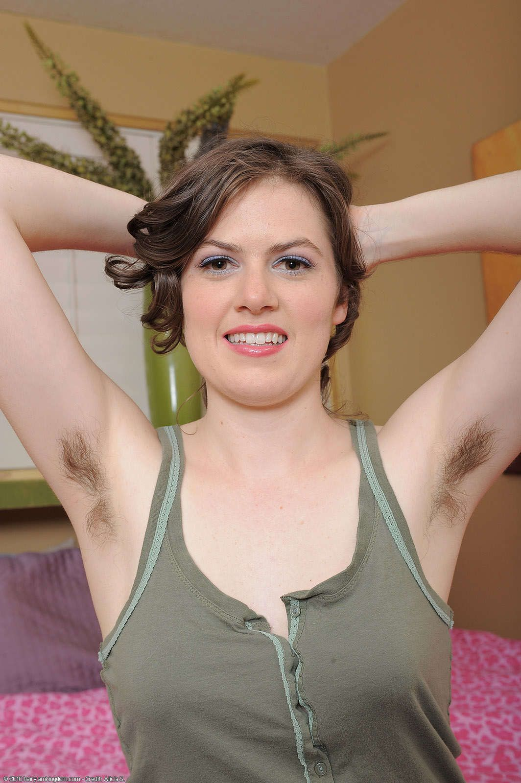 Nude women with armpit hair