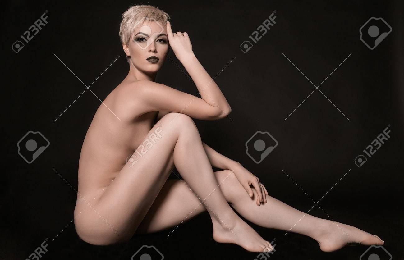 Nude women with long legs