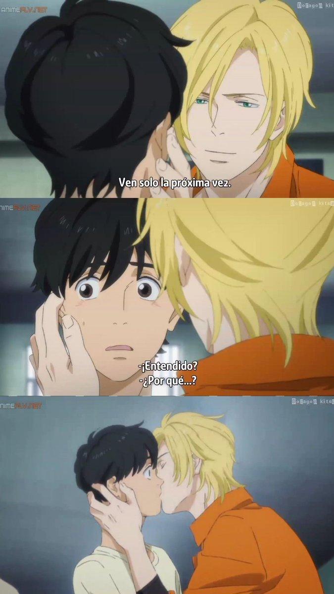 Anime manga kiss scene