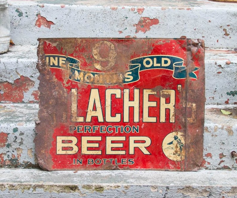 Vintage beer sign info