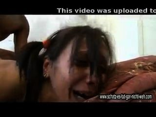 Thai girl scream in pain