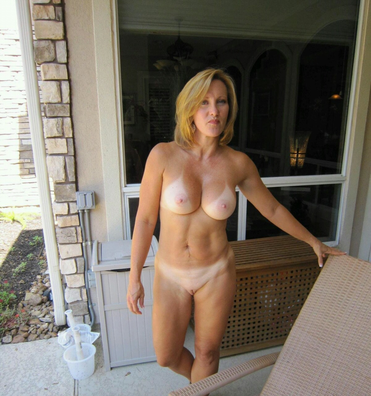 Naked attractive old mature women