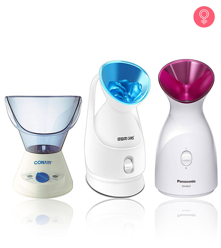 Using a facial steamer