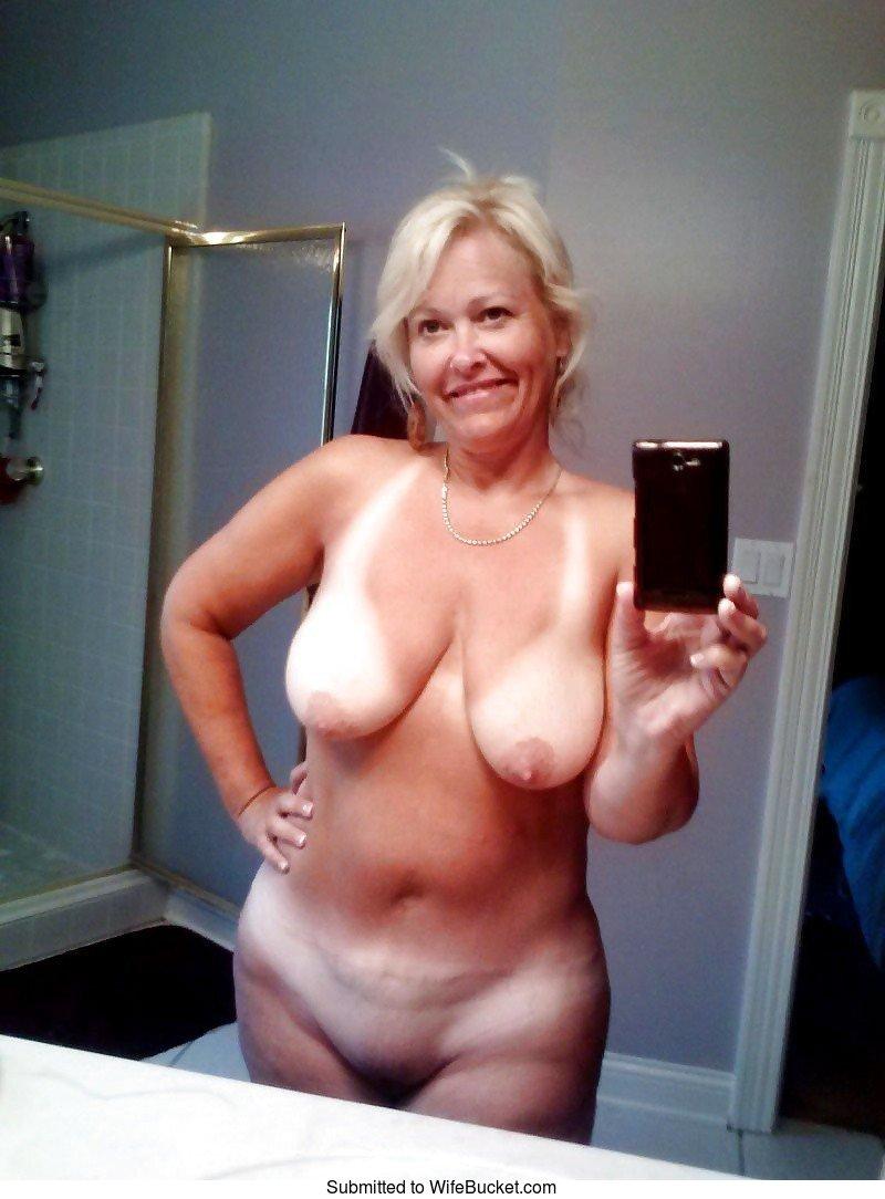 Wife bucket mature naked women