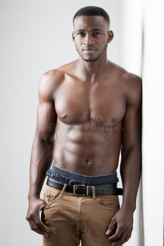 Skinny hung black man