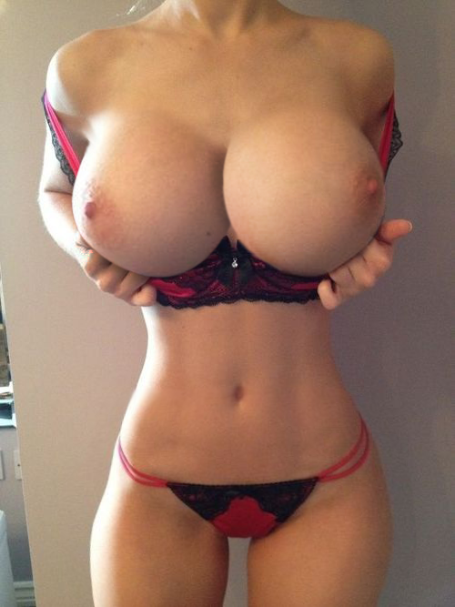 Nude girls with huge fake tits