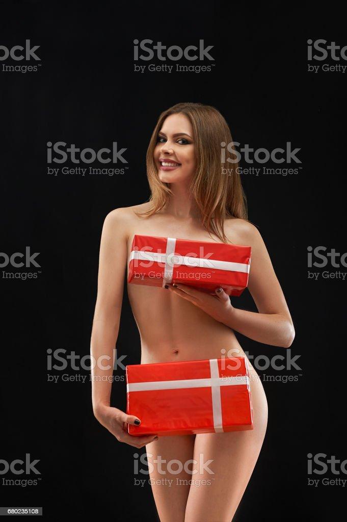 Hot model naked girl background