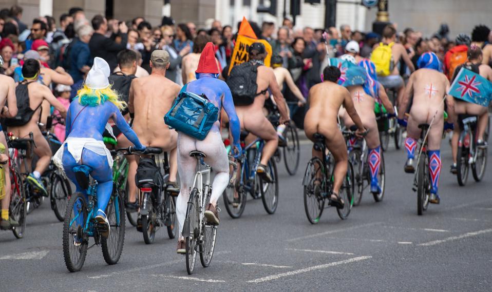 Naked cfnm world bike ride