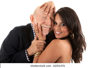 Woman old man young girl and