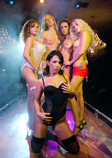 Stripers naked boobs strip club