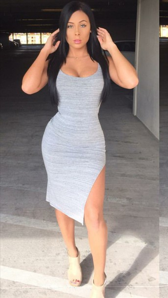 Hot sexy girls tight short dress