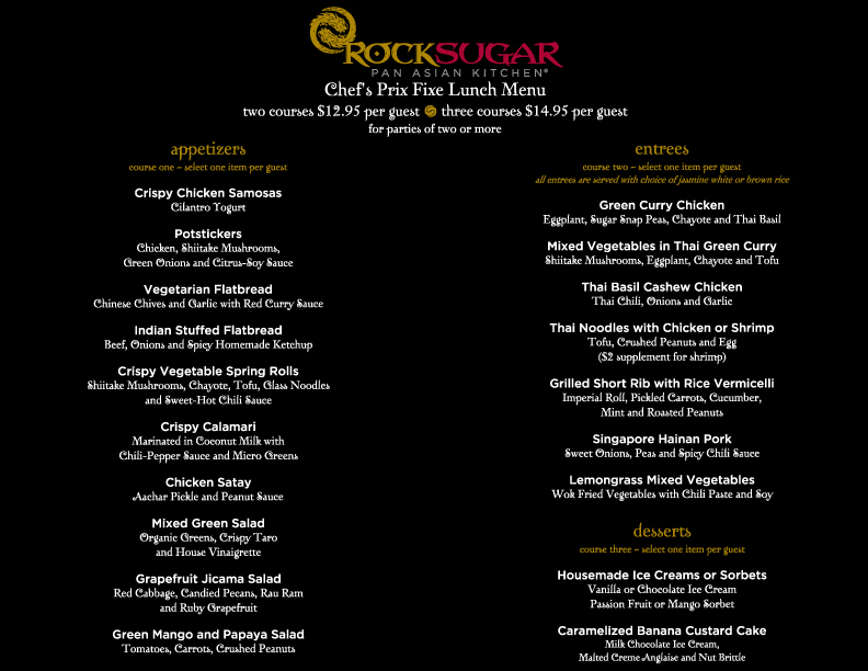 Rock sugar pan asian kitchen menu