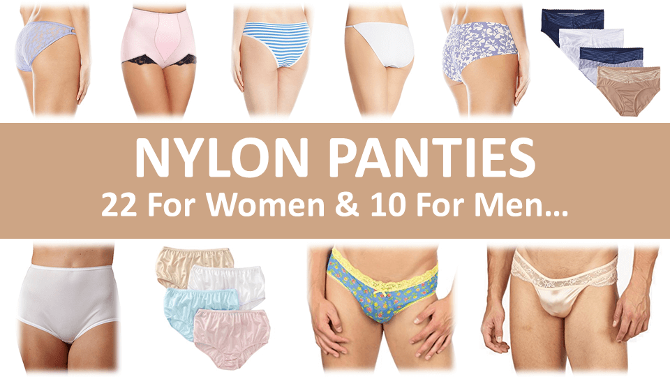 Women wearing full cut nylon panties
