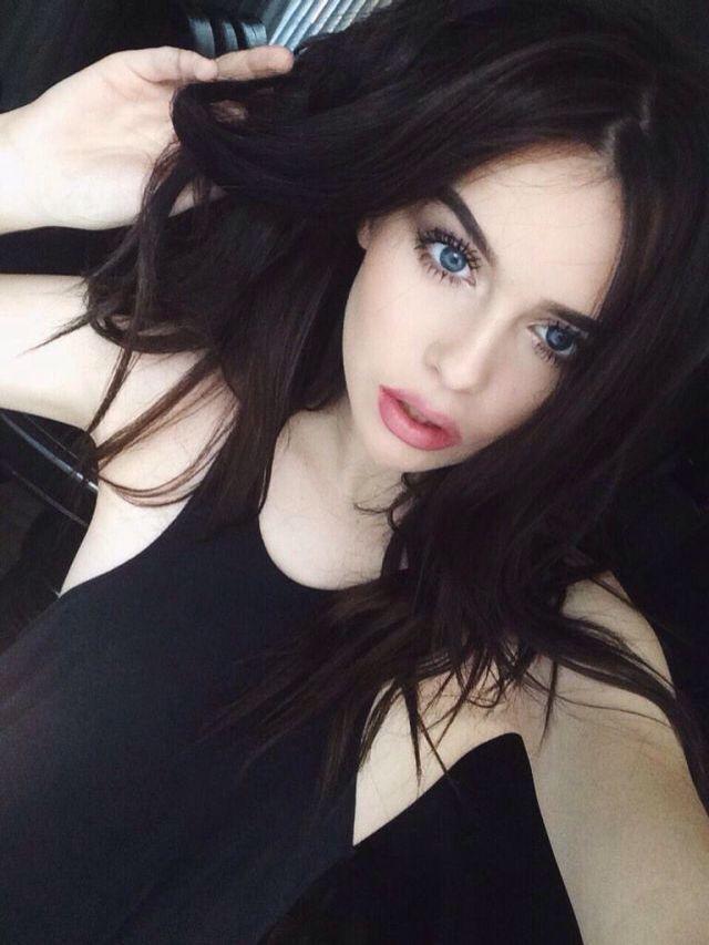 Black hair pale skin nude girls