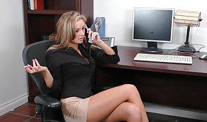 Hot blonde girls in short skirts