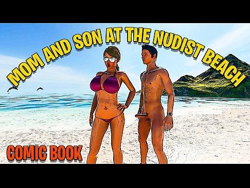 Candid nude beach moms