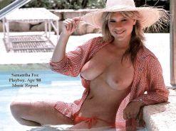 Samantha fox tits and ass pics
