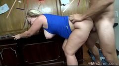 Her fat ass mom getting fucked