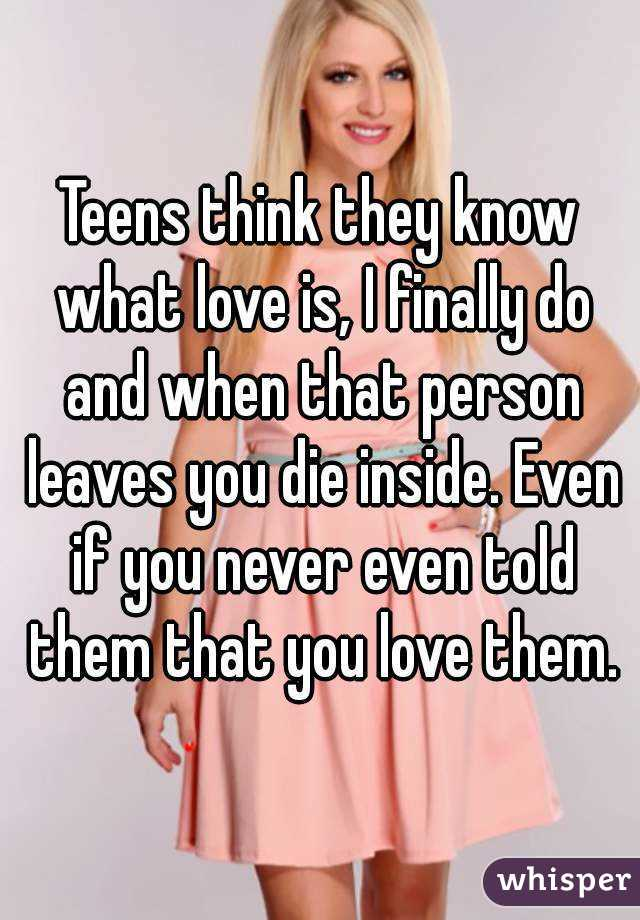What teens think about love