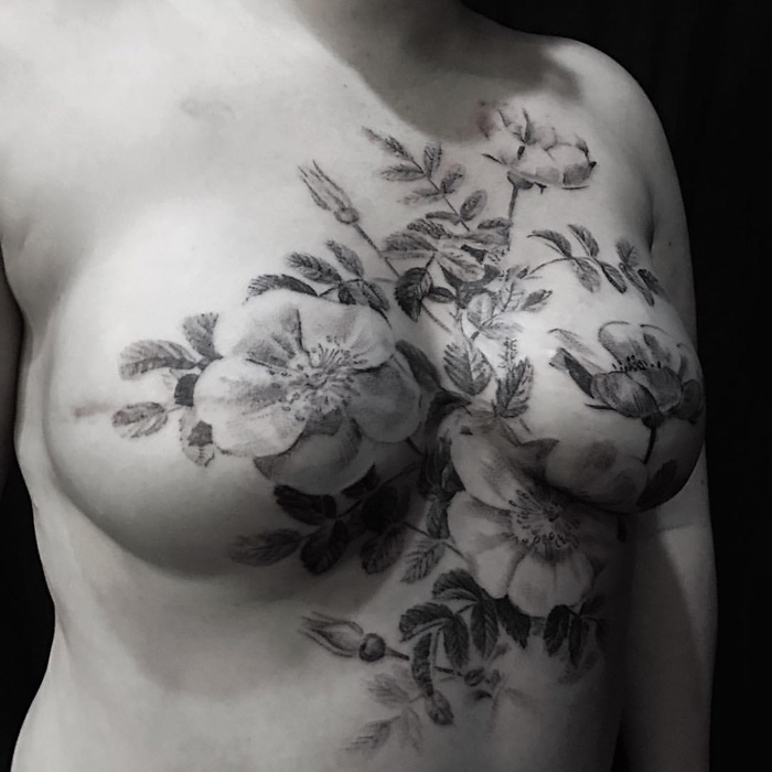 Pictures of tattoos on breast
