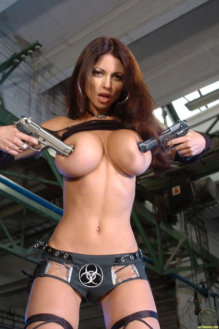 Hot naked girls with guns