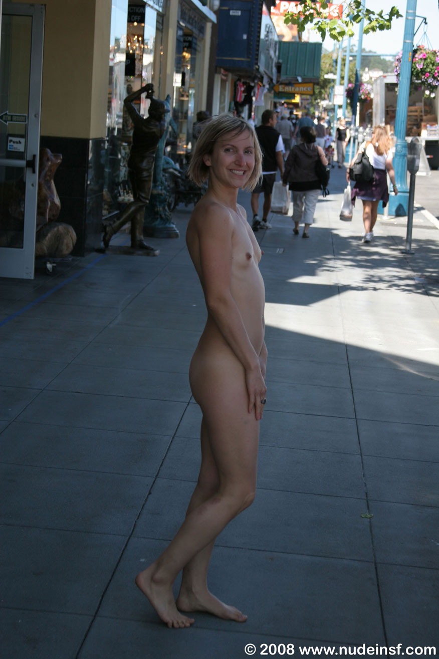 Amateur girls walking naked in public