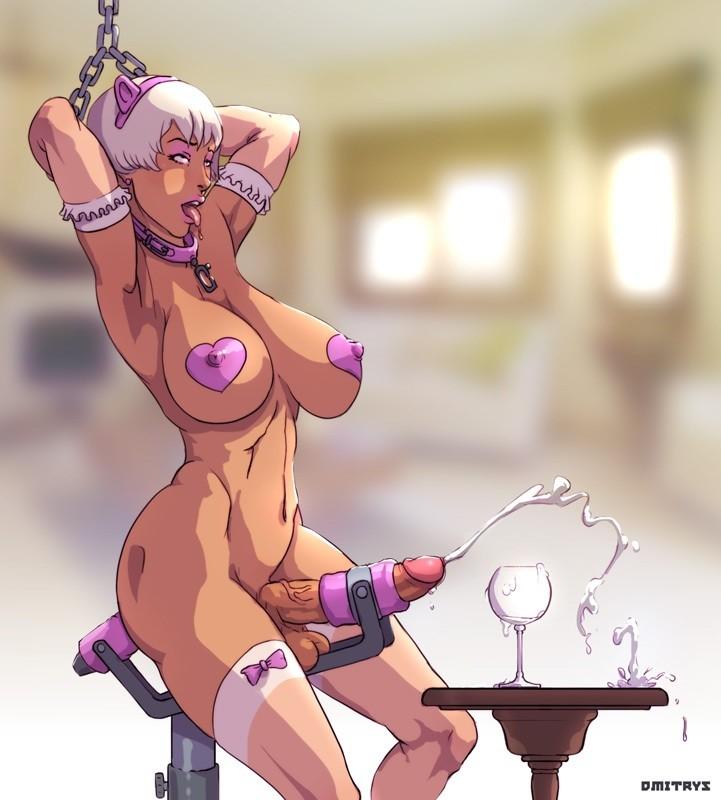 Futanari cock milking porn
