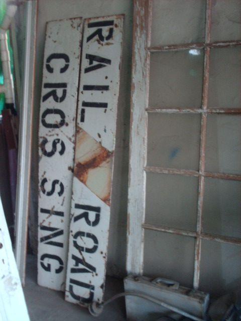 Vintage railroad crossbuck sign