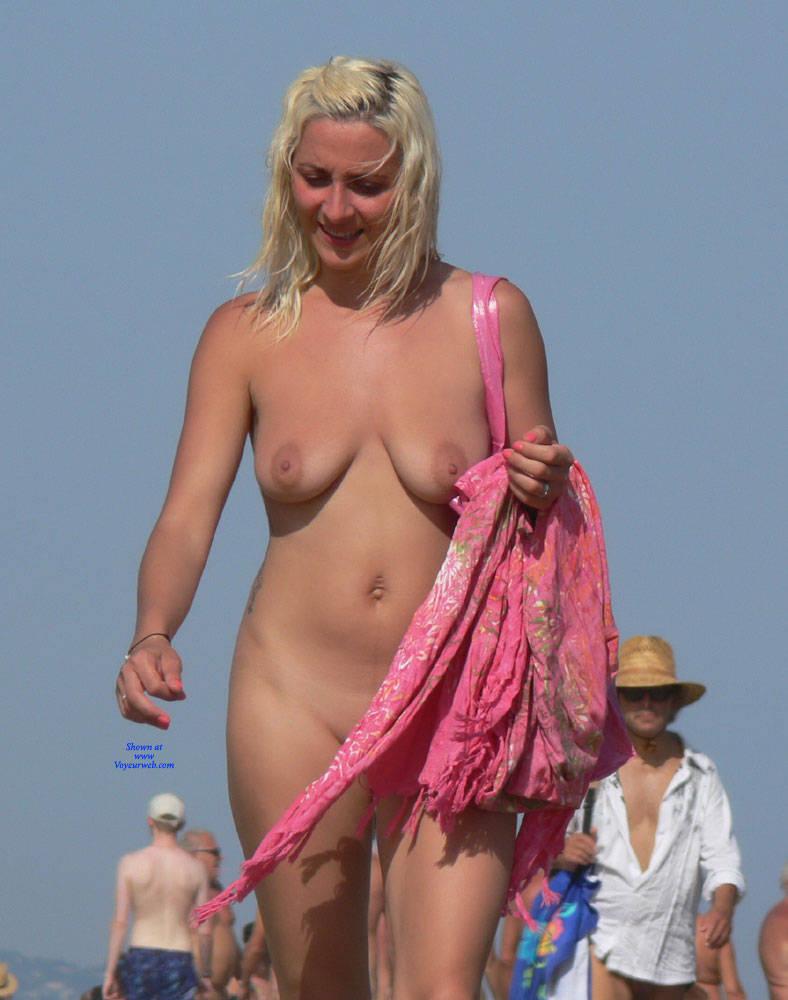 Big tits nude beach voyeur