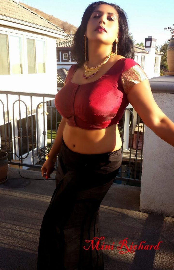 Beautiful auntys saree hiked photos