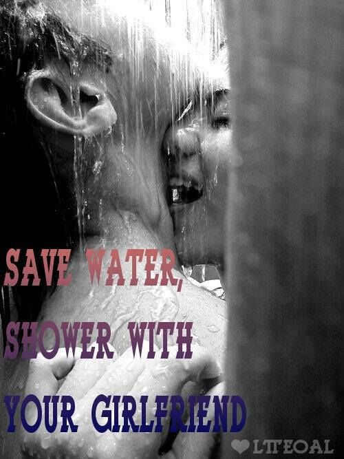 Together shower and husband wife