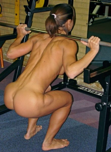 Free nude women lifting weights