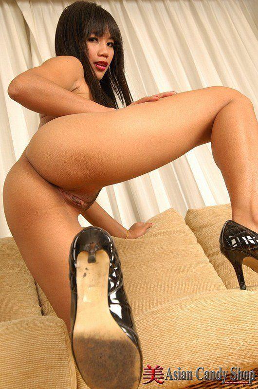 Busty asian porn high heels