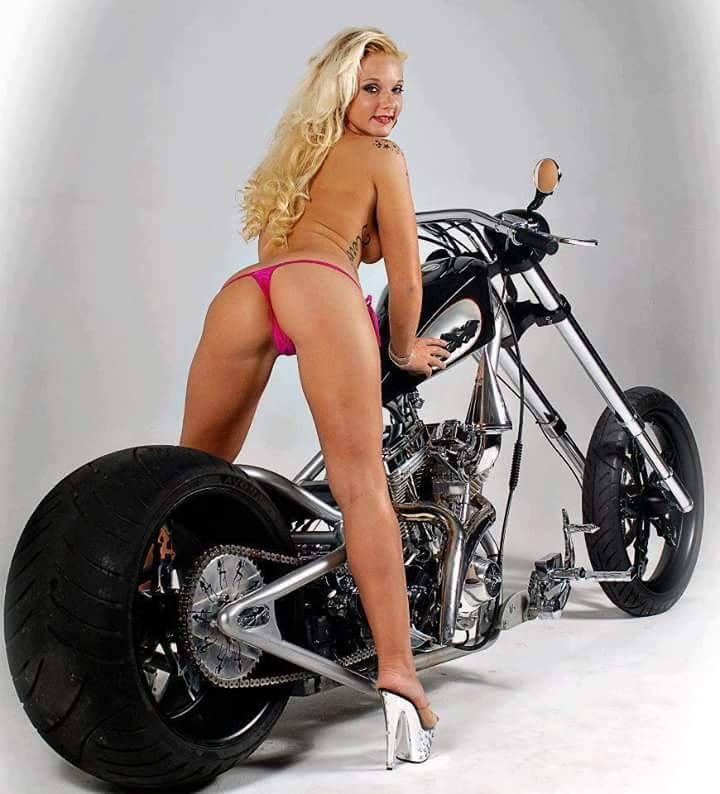 Chopper motorbike girl sexy