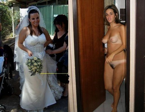 Brides naked before and after