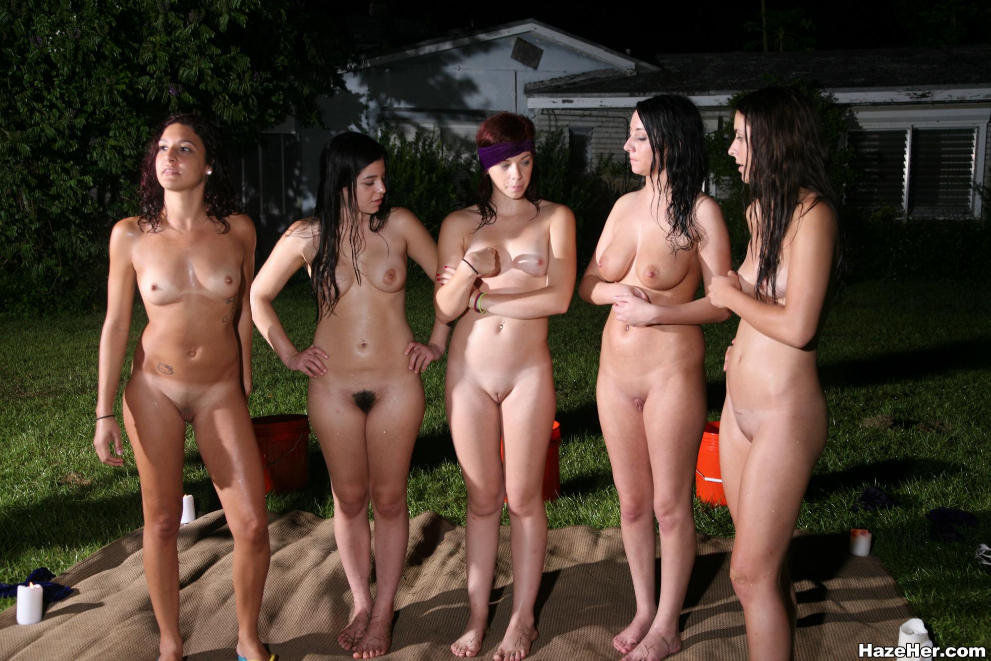 Nude amateur beach group