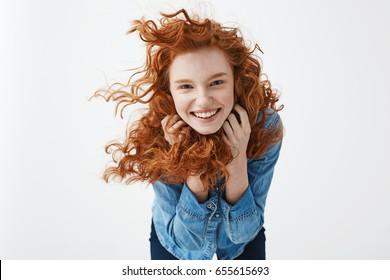 Carli with braces cute redhead