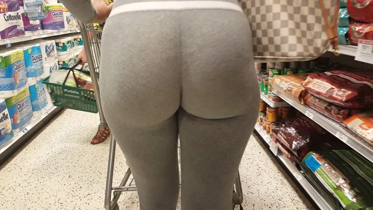 Japanese yoga pants ass candid