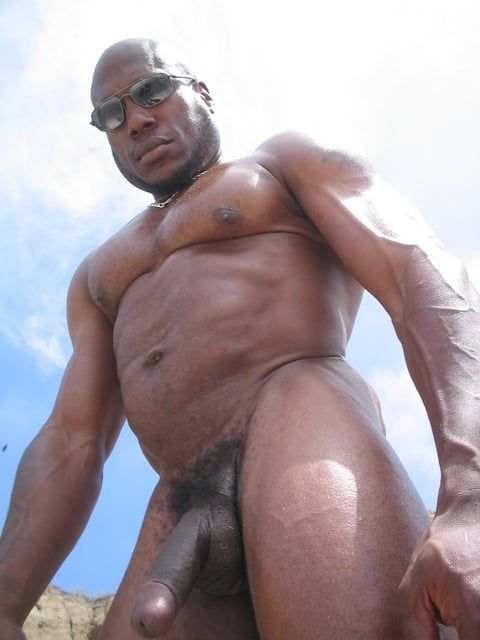 Naked black man with big penis