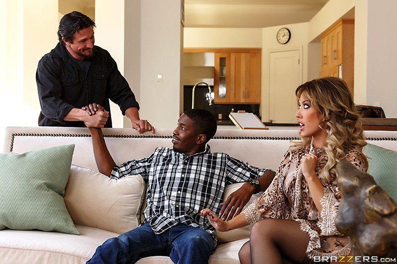 Husband interracial story threesome wife