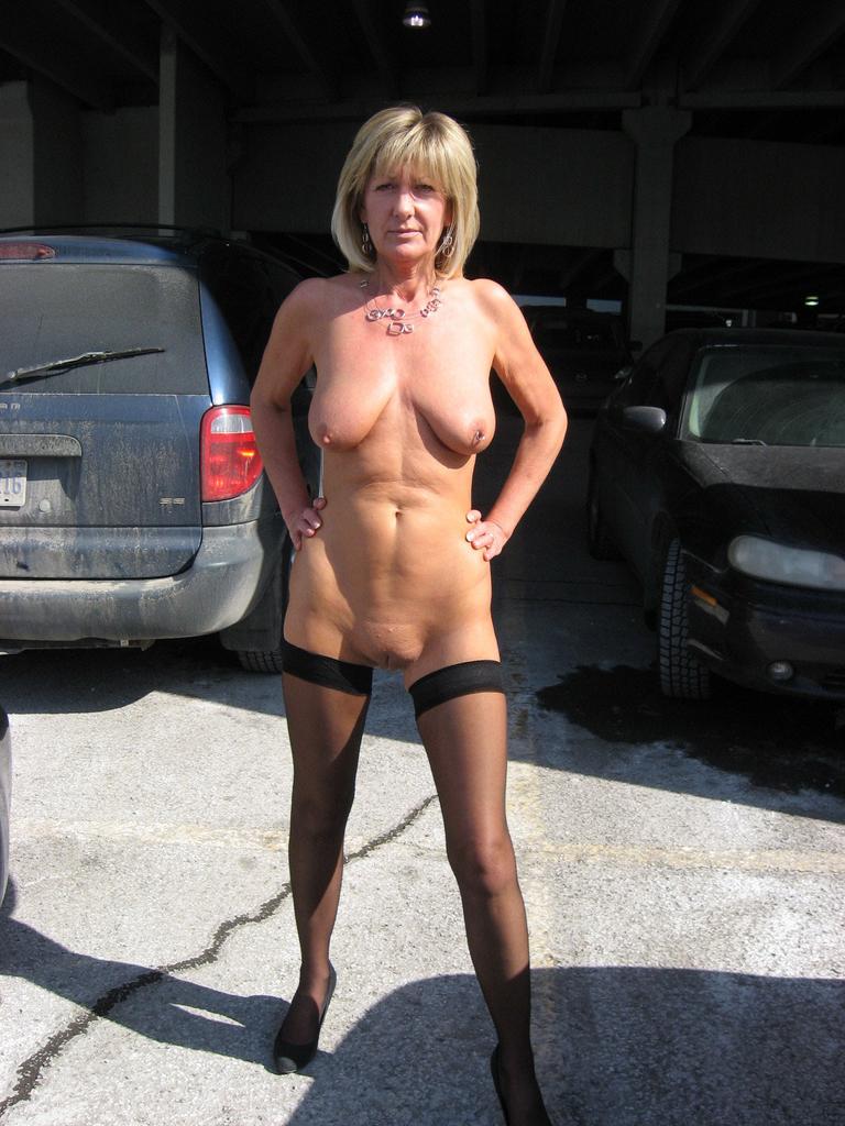 Slut wife public naked