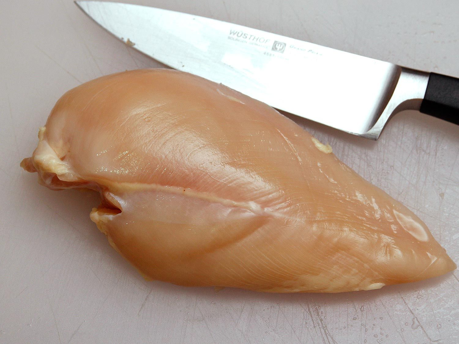 How to cut a chicken breast