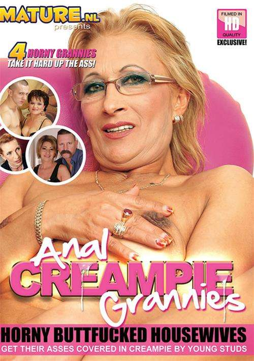 Granny getting anal creampie