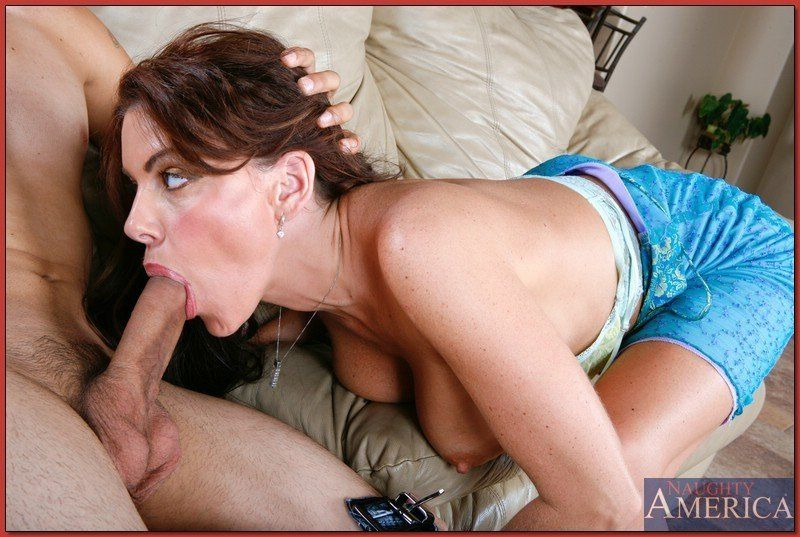 Horny mom son blowjob