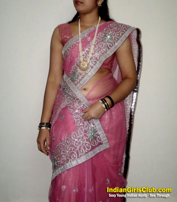 In saree indian aunty nudes